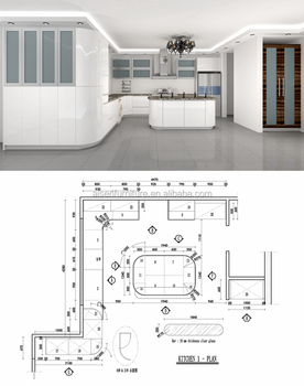 40 Years Professional Kitchen Cad 3d Drawing Design Service Buy