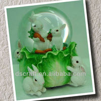 Water globe with rabbit craft