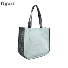 Custom printed design eco friendly recyclable cheap carry tote china laminated non woven bag for shopping