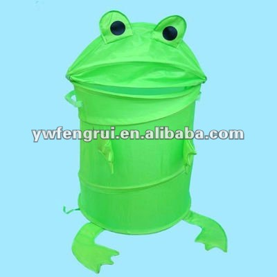 Hot Sales! Useful Hamper Green Round Animal Cartoon Frog Toad ...