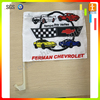 Car window flying flag with sturdy plastic flagpole