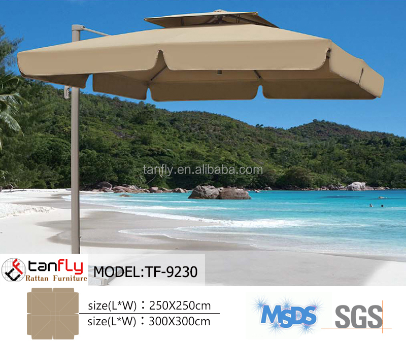190T polyester promotional outdoor garden beach umbrella whole sale
