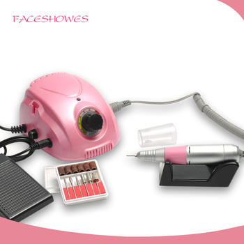 Faceshowes Rechargeable Nail Red And White Acrylic Nails Drill Nail ...