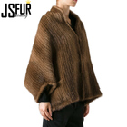 China manufacturer New year hotsale new fashion style knitted mink fur poncho