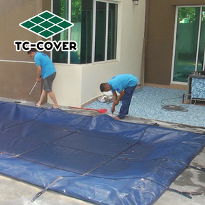 canvas swimming pool covers tc,pool pe mesh fabric cover pool cover mesh or solid