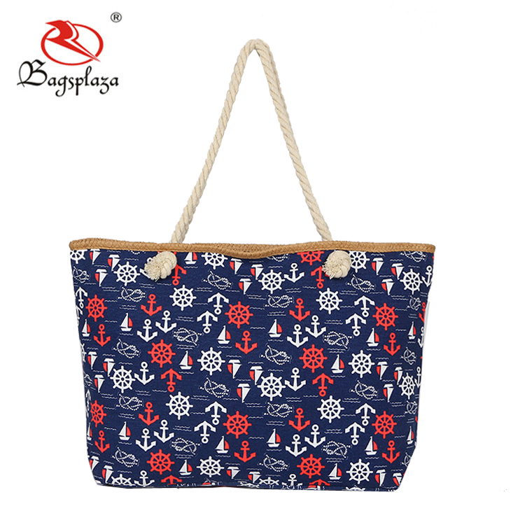 2018 Latest Design Fashion Printing Style Polyester Beach Tote Bag ... 642d8c68f9bfc