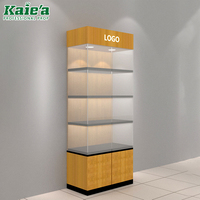 Wholesale wood and glass display cabinet display showcase for jewelry and watch store