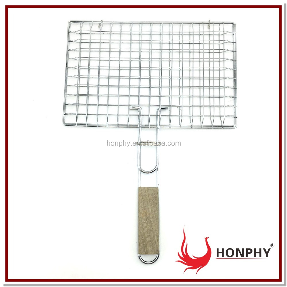 Grill Basket BBQ Accessory for Fish Meat Vegetable mini wire mesh net