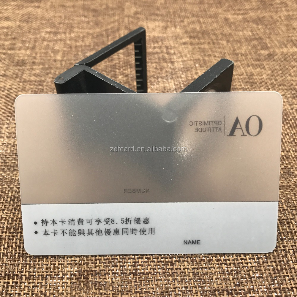 Transparent Plexiglass Business Card With 4 Color Printing - Buy ...