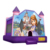 Commercial princess frame inflatable bounce house with slide