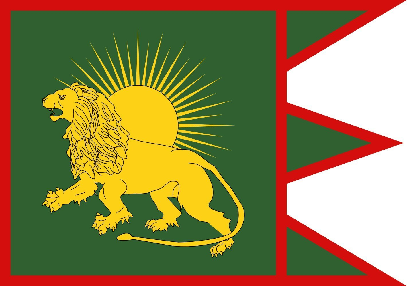 magFlags XL Flag Sketch of a possible Flag of the Mughal Empire | landscape flag | 2.16qm | 23sqft | 120x180cm | 4x6ft -- 100% Made in Germany -- long lasting outdoor flag