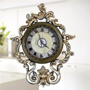 European- style Creative Living Room Mute Wall Clock