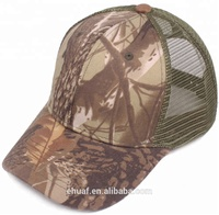 Outdoor snapback baseball cap real tree mesh trucker forest camo hat