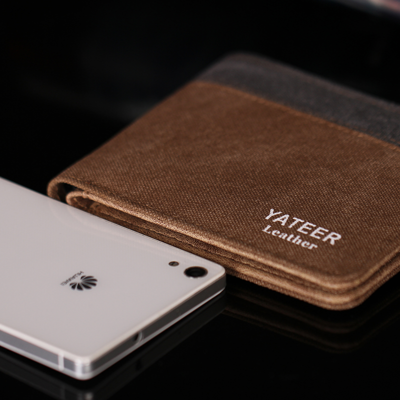 Wear Resistant Minimalist Mens Thin Canvas <strong>Wallet</strong>