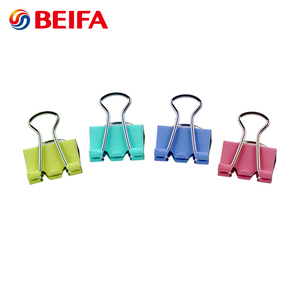 Beifa Brand TC0003 Hot Sale Office & School Stationery Online Selling Candy Color Custom Metal Binder Clips