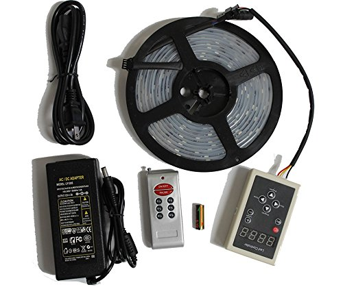 LED4Everything (TM) 5M 16.4ft 12v SMD IC 6803 5050 Dream Magic RGB LED Strip 133 Color Change + RF Remote Controller + 12V 5A Power Supply