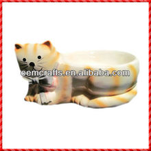 Cat shaped ceramic Sensor Pet Bowl for your CAT