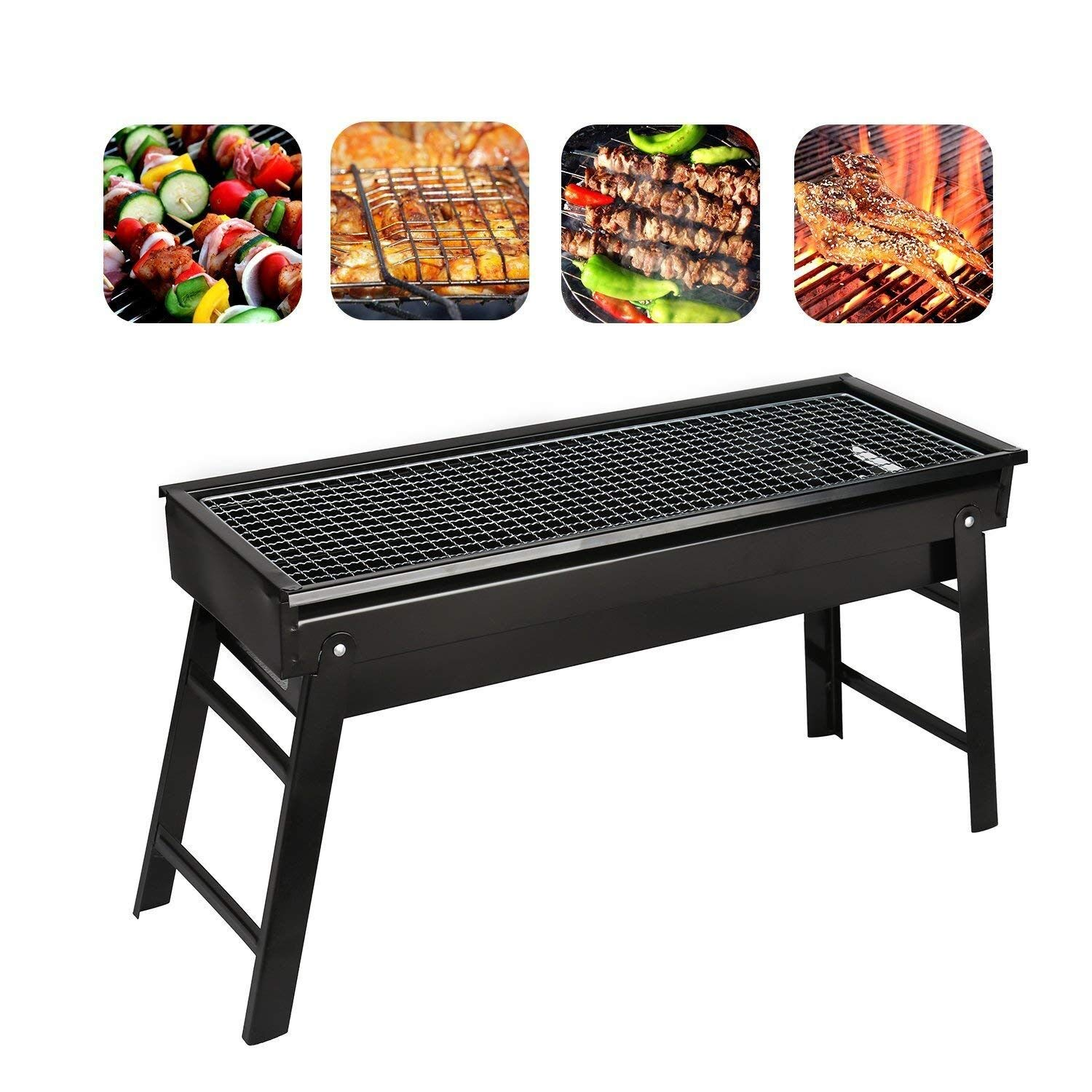 1d8be65d30990d Get Quotations · Portable BBQ Barbecue Foldable Camping Picnic Outdoor  Garden Charcoal BBQ Grill Party