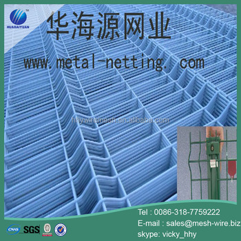 Pvc coated welded wire mesh fence panels from factory
