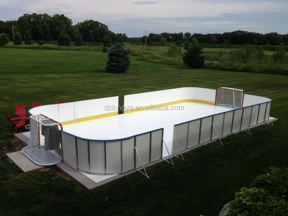 portable synthetic roller skating rink or ice hockey rink