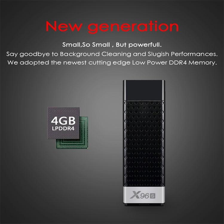 New Arrival X96S Amlogic S905Y2 LPDDR4 2/4GB ram 16/32GB ROM HD2.1 Android 8.1 usb tv dongle