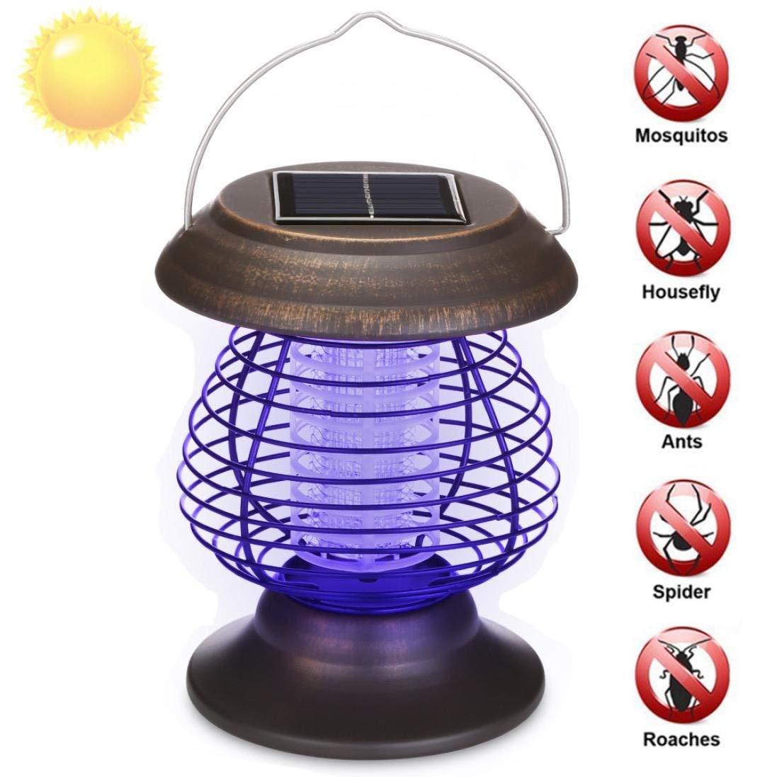 Yezijin Anti Mosquito Bulb, Mosquito Killer Lamp, Solar Powered Portable Electric Mosquito Lamp Mosquito Killer Lamps Solar Bug