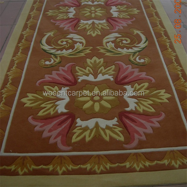 Luxury Hand Tufted wool silk carpet rug modern design Hotel runner Corridor Carpet
