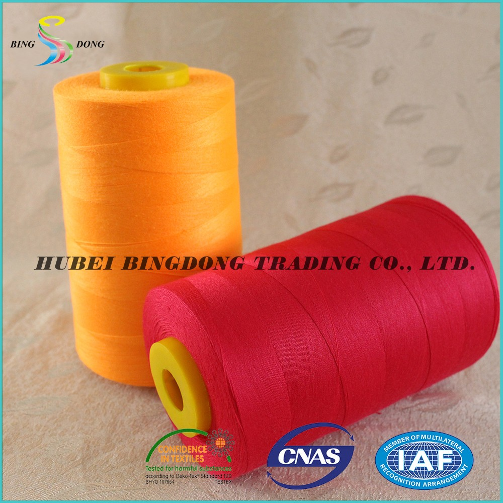 5000m dyed 20/2 20/3 100% spun polyester sewing thread