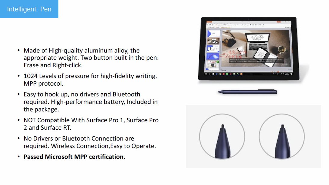 The Smart Pen For Surface Pro - Buy Pen Surface,Stylus Pen For  Surface,Smart Pen Product on Alibaba com