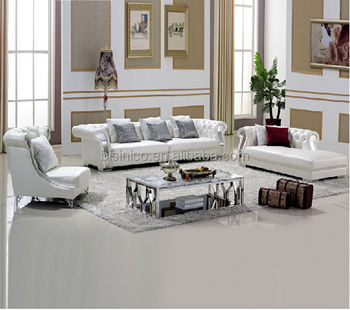 Pure White Chesterfield Leather Sofa,Coffee Table,Living Room Furniture -  Buy Leather Sofa,Chesterfield Leather Sofa,Living Room Furniture Product on  ...