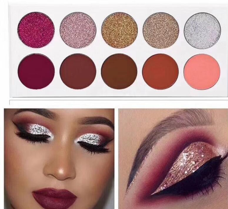 Makeup Cosmetics Private Label Glitter  Eyeshadow Palette Custom Logo