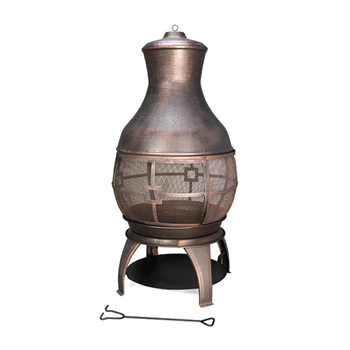 Garden Treasures Black High Temperature Painting Steel Chiminea Warming Fire Pit Lights Firepit Collection Bowl Product On