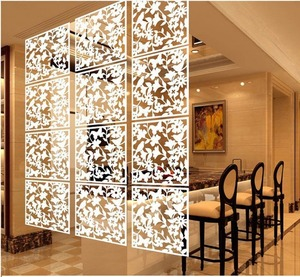Butterfly Bird Flower Plastic Hanging Screen Partition Divider Home Room Divider, Folding Partition Wall