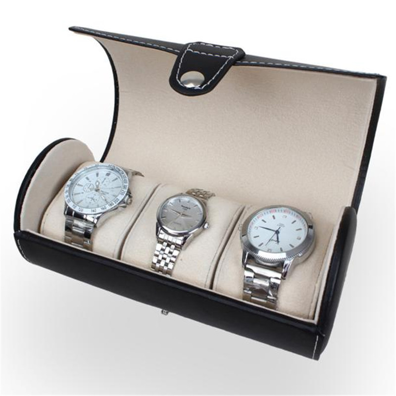 wholesale birthday wedding gift roll watch case box pu leather watch display case new