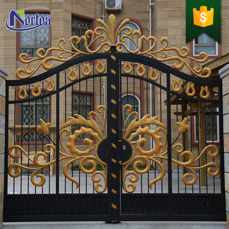 Home Design Gate Ideas: Beautiful Residential Wrought Iron Gate Designs/models