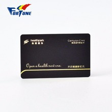 Popular Frosted Surface Discount Price Golden Stamping PVC Plastic Centurion Card For Ordering Online