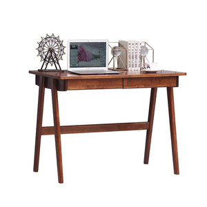 Solid wood computer desk with keyboard and drawer children bedroom study writing desk