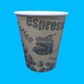 8 Oz Disposable Custom Printed Office Paper Coffee Cups Cup