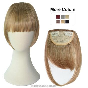 100%human Hair Pieces Bangs,Clip Natural