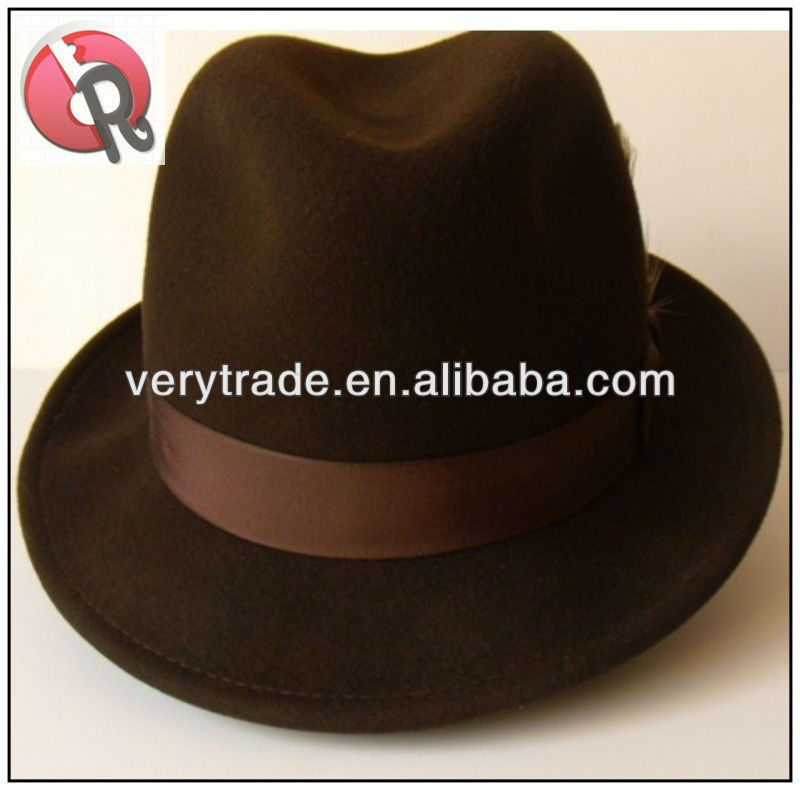 Fedora Gangster Hat Color Chocolate Size 7 3 8 Large - Buy Fedora Hat d75966a6024