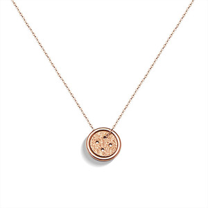 Wholesale Fashion New Design 18k Gold Plated Lucky Button Pendant Necklace Stainless Steel Choker Chain Necklace For Women