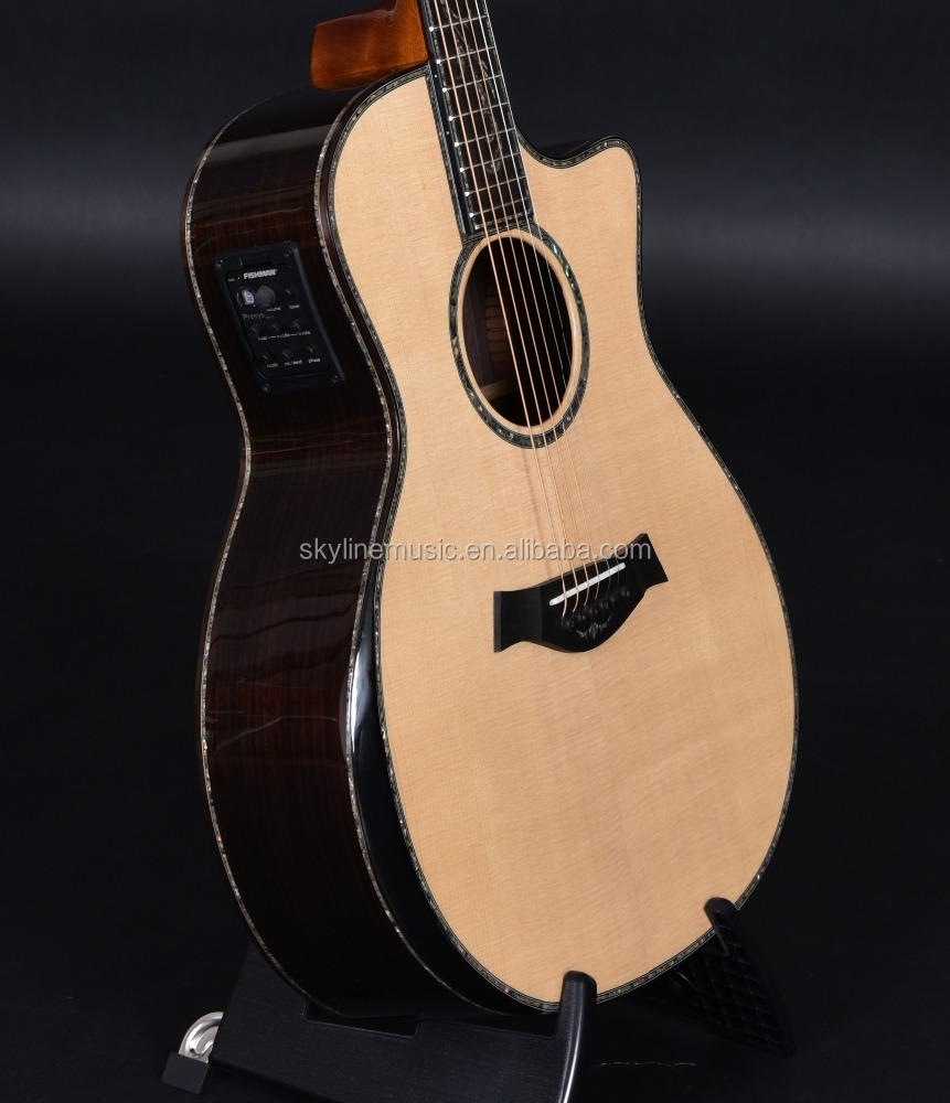 Customized solid wood Acoustic guitars, Guitarra acustica