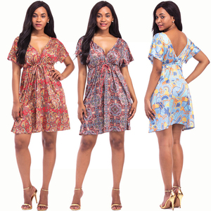 Ladies western fat sexy night dress plus size floral design african dresses for women
