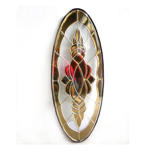 Models for Wood Doors Decorative Stained Door Glass Oval Inserts