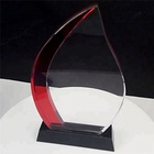Crystal Crystal Crystals And Trophies Custom Made K9 Glass Award Factory Price Engraved K9 Crystal Trophy Red And White Crystal Trophy