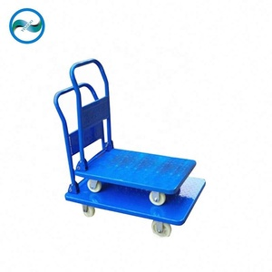 Hot sale Stainless Steel folding platform hand cart trolley & steel truck