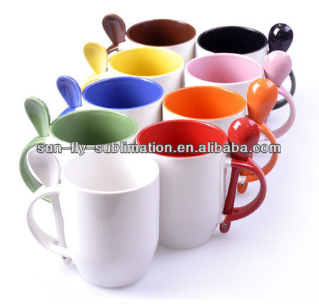 Awesome Source Printable Mugs (different Color Options)/Spoon Sublimation Mugs  BLANK/ On M.alibaba.com