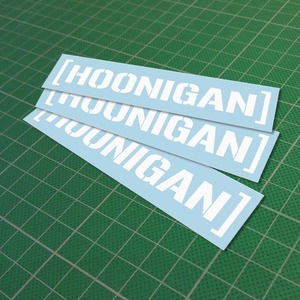 Custom funny Hoonigan Sticker vinyl decal Car JDM Window sticker