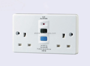 Twin 13A RCD protected Unswitched socket 30mA &10mA RCD0230PD