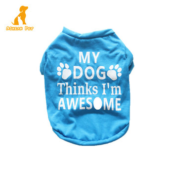 2019 New Summer Printed Dog Short Sleeve Pet Shirt Summer Dog Clothes